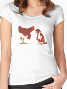 Funny Animals Women's Fitted Scoop T-Shirt