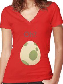 Pokemon Egg Hatching Women's Fitted V-Neck T-Shirt