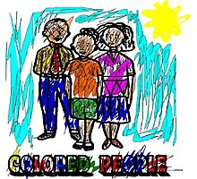 Funny Colored People Drawing Photographic Print