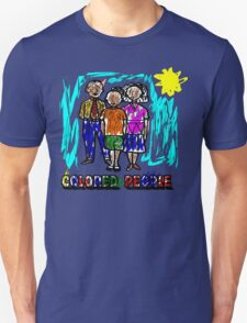 Funny Colored People Drawing Unisex T-Shirt