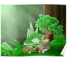 Napping In The Forest Poster