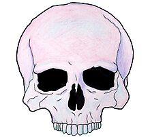 Pastel Skull Photographic Print