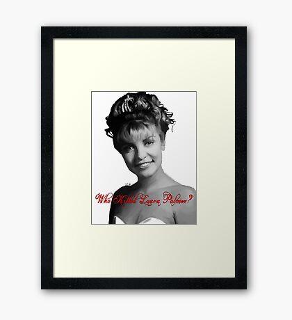 Who Killed Laura Palmer Framed Print