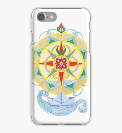 Compass Rose (Yellow) - Watercolour  iPhone Case/Skin