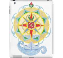 Compass Rose (Yellow) - Watercolour  iPad Case/Skin
