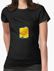Yellow flower Womens Fitted T-Shirt
