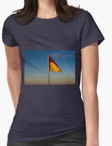 Waving Flag Womens Fitted T-Shirt