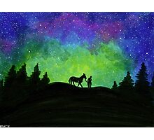 A Man and His Horse Original Photographic Print
