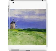 French Countryside Windmill Contemporary Acrylic Painting On Paper iPad Case/Skin