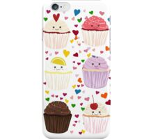 Cupcake Lover Pattern, Cupcake Hearts iPhone Case/Skin