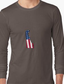 Delaware American Flag Long Sleeve T-Shirt