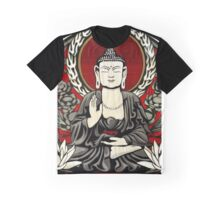 Gautama Budda Colour Crop Graphic T-Shirt