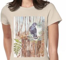 Crow loves the forest Womens Fitted T-Shirt