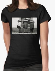 Window Peaking Womens Fitted T-Shirt