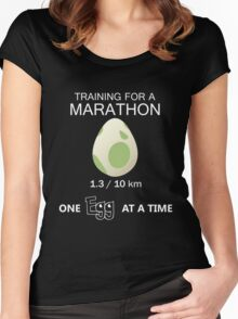 Training for a Marathon! (Pokemon Go!) Women's Fitted Scoop T-Shirt