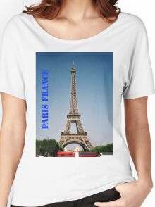 Paris France Eiffel Tower  Women's Relaxed Fit T-Shirt