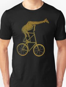 Giraffe on Bicycle Unisex T-Shirt