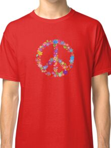 Flowers and Peace Classic T-Shirt