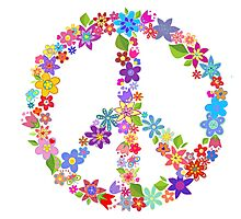 Flowers and Peace Photographic Print