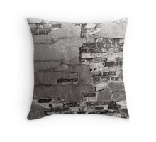 Rough Greyscale Brickwork - Cases, Pillows and Prints Throw Pillow