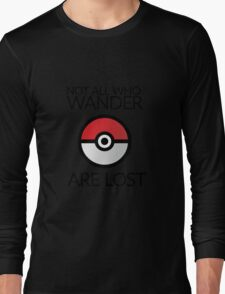 Wanderlust Pokeball Long Sleeve T-Shirt