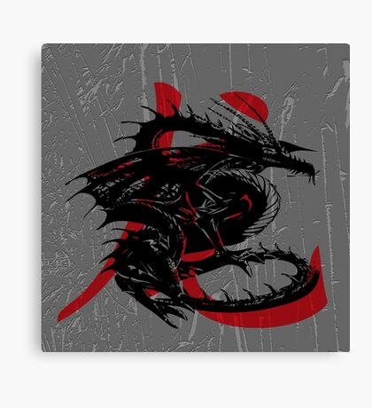 Dragon. - Zodiac collection Canvas Print