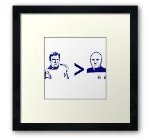 best capt Framed Print