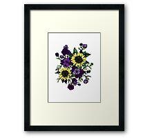 Floral Coloured Illustration Framed Print