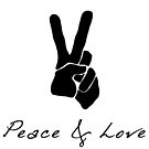 Peace & Love - Peace Sign Victory Hand Signal  by 321Outright
