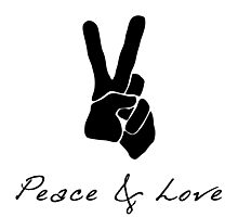 Peace & Love - Peace Sign Victory Hand Signal  Photographic Print
