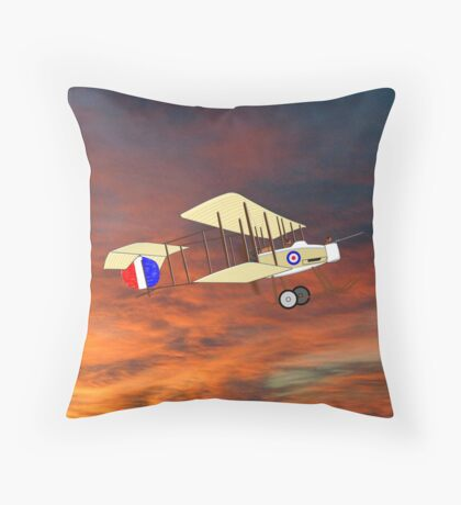 "A Royal Flying Corps Vickers F.B.5  ""Gunbus"" pillow & tote Throw Pillow"