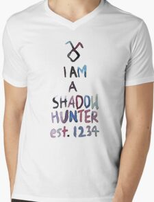 I am a shadowhunter (watercolor) Mens V-Neck T-Shirt