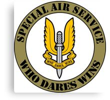 SAS Special Air Service Ellite Military Force  Canvas Print