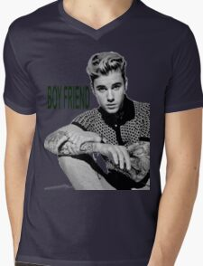 JUSTIN BIEBER Mens V-Neck T-Shirt