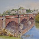 Red Bridge, Campbell Town by Muriel Sluce by Wendy Dyer