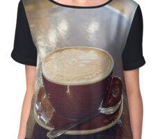 Cup of Coffee Chiffon Top