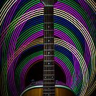 Light Painted Guitar by Randy Turnbow