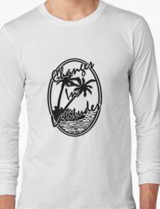 changes in latitudes monochrome artwork jimmy buffett Long Sleeve T-Shirt