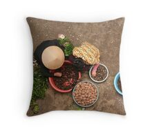 Haggling Throw Pillow