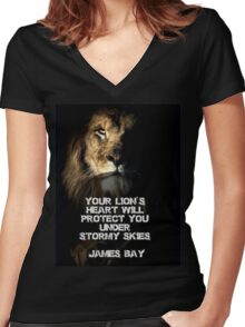 JAMES BAY Women's Fitted V-Neck T-Shirt