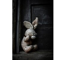 Faceless Bunny Photographic Print