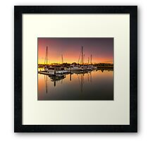 Hope Island Marina - Gold Coast Qld Australia Framed Print