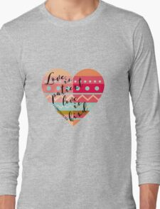 1 Corinthians 13:4 Long Sleeve T-Shirt