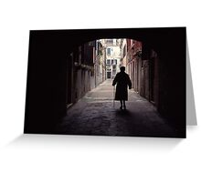 Walking in Venice Greeting Card