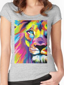 Colorful Lion Women's Fitted Scoop T-Shirt