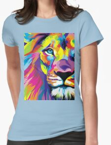 Colorful Lion Womens Fitted T-Shirt
