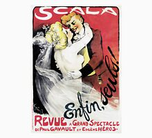 Vintage Scala Enfin Seuls Poster Unisex T-Shirt
