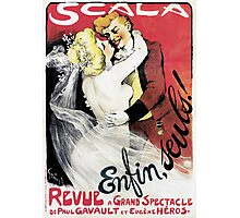 Vintage Scala Enfin Seuls Poster Photographic Print