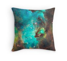Green Galaxy Throw Pillow