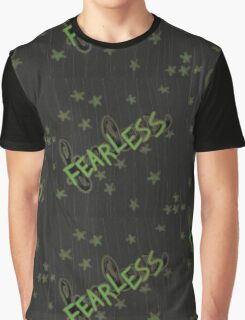 Fearless in Green Graphic T-Shirt